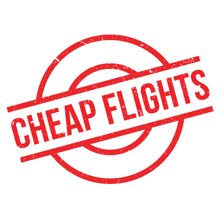 reduced: Cheap Flights rubber stamp. Grunge design with dust scratches. Effects can be easily removed for a clean, crisp look. Color is easily changed.