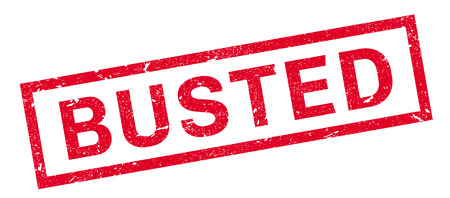busted: Busted rubber stamp. Grunge design with dust scratches. Effects can be easily removed for a clean, crisp look. Color is easily changed.