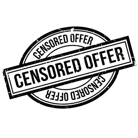Censored Offer rubber stamp. Grunge design with dust scratches. Effects can be easily removed for a clean, crisp look. Color is easily changed. 向量圖像