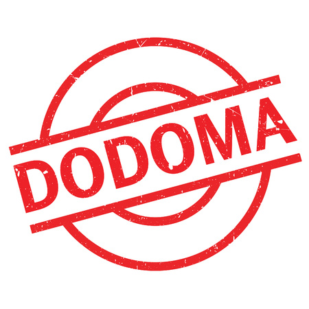 tanzania: Dodoma rubber stamp. Grunge design with dust scratches. Effects can be easily removed for a clean, crisp look. Color is easily changed.