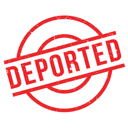 displacement: Deported rubber stamp. Grunge design with dust scratches. Effects can be easily removed for a clean, crisp look. Color is easily changed.