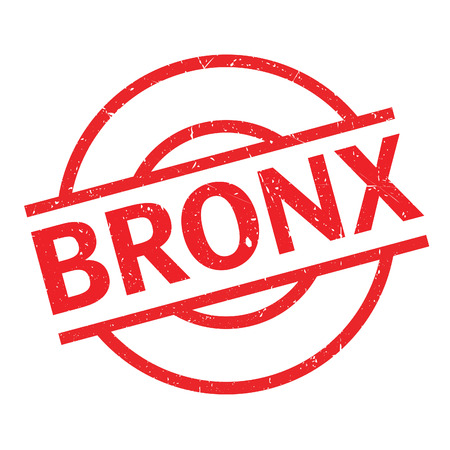 Bronx rubber stamp. Grunge design with dust scratches. Effects can be easily removed for a clean, crisp look. Color is easily changed. Illustration