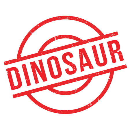Dinosaur rubber stamp. Grunge design with dust scratches. Effects can be easily removed for a clean, crisp look. Color is easily changed.