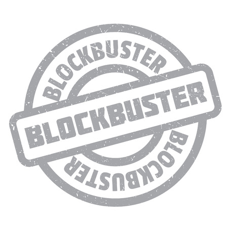 blockbuster: Blockbuster rubber stamp. Grunge design with dust scratches. Effects can be easily removed for a clean, crisp look. Color is easily changed.
