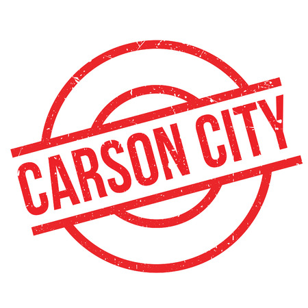 denver: Carson City rubber stamp. Grunge design with dust scratches. Effects can be easily removed for a clean, crisp look. Color is easily changed.