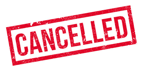 canceled: Cancelled rubber stamp. Grunge design with dust scratches. Effects can be easily removed for a clean, crisp look. Color is easily changed.