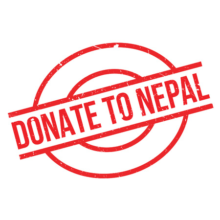 Donate To Nepal rubber stamp. Grunge design with dust scratches. Effects can be easily removed for a clean, crisp look. Color is easily changed.
