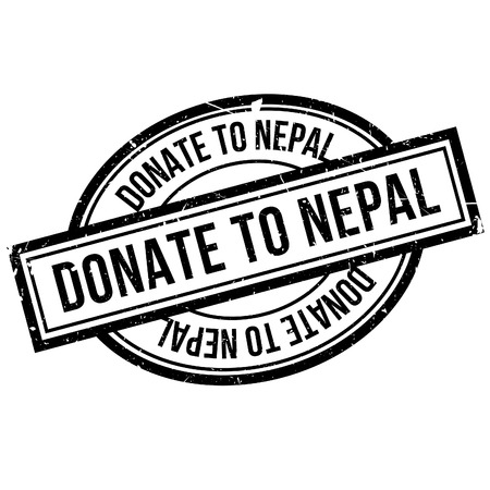 devastating: Donate To Nepal rubber stamp. Grunge design with dust scratches. Effects can be easily removed for a clean, crisp look. Color is easily changed.