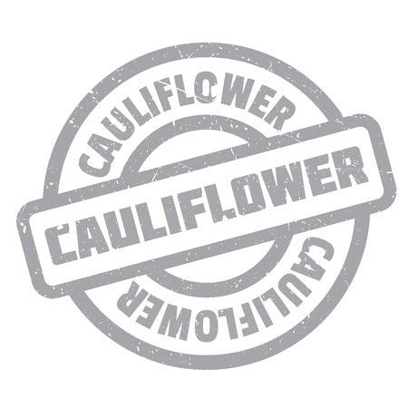 Cauliflower rubber stamp. Grunge design with dust scratches. Effects can be easily removed for a clean, crisp look. Color is easily changed.