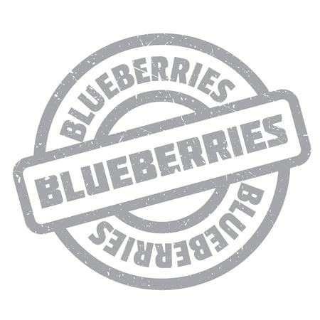 imprinted: Blueberries rubber stamp. Grunge design with dust scratches. Effects can be easily removed for a clean, crisp look. Color is easily changed. Illustration