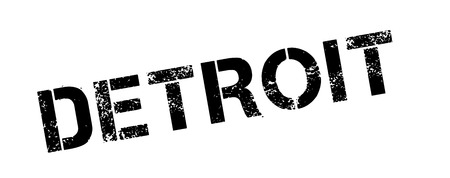 detroit: Detroit rubber stamp. Grunge design with dust scratches. Effects can be easily removed for a clean, crisp look. Color is easily changed.