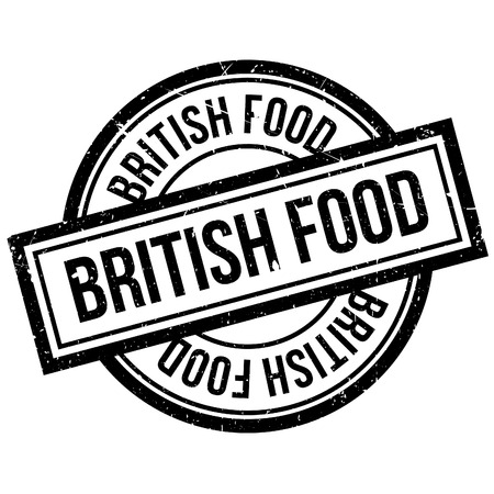 britannia: British Food rubber stamp. Grunge design with dust scratches. Effects can be easily removed for a clean, crisp look. Color is easily changed. Illustration