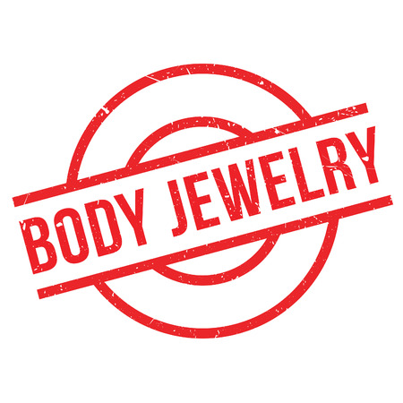 body jewelry: Body Jewelry rubber stamp. Grunge design with dust scratches. Effects can be easily removed for a clean, crisp look. Color is easily changed.