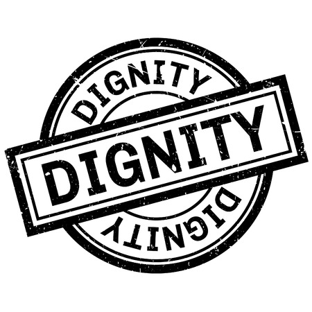 dignified: Dignity rubber stamp. Grunge design with dust scratches. Effects can be easily removed for a clean, crisp look. Color is easily changed.