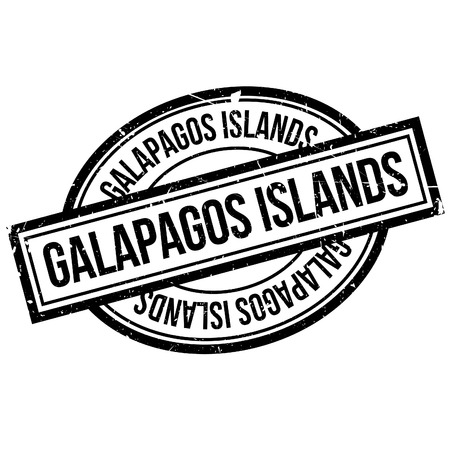 Galapagos Islands rubber stamp. Grunge design with dust scratches. Effects can be easily removed for a clean, crisp look. Color is easily changed. Illustration