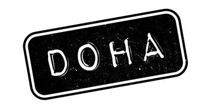 Doha rubber stamp. Grunge design with dust scratches. Effects can be easily removed for a clean, crisp look. Color is easily changed.