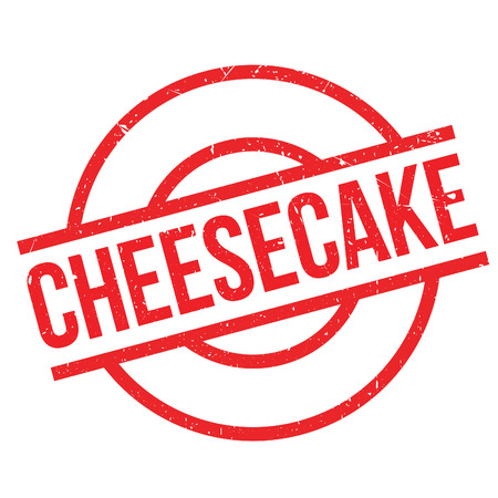 cheesecake: Cheesecake rubber stamp. Grunge design with dust scratches. Effects can be easily removed for a clean, crisp look. Color is easily changed.