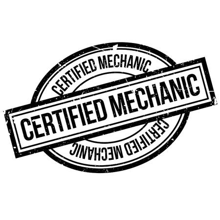 troubleshooting: Certified Mechanic rubber stamp. Grunge design with dust scratches. Effects can be easily removed for a clean, crisp look. Color is easily changed.