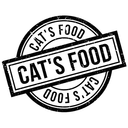 CatS Food rubber stamp. Grunge design with dust scratches. Effects can be easily removed for a clean, crisp look. Color is easily changed. Illustration