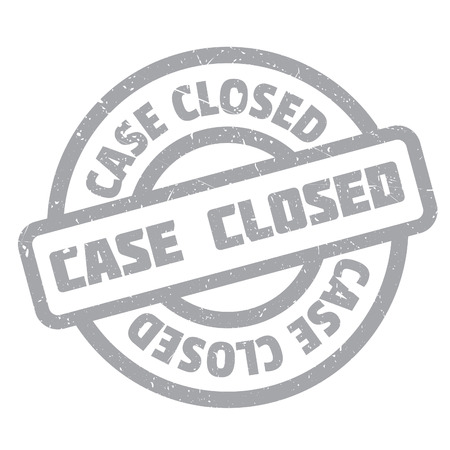 proceedings: Case Closed rubber stamp. Grunge design with dust scratches. Effects can be easily removed for a clean, crisp look. Color is easily changed.