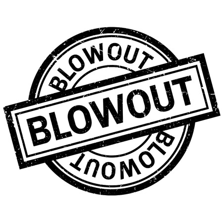 blowout: Blowout rubber stamp. Grunge design with dust scratches. Effects can be easily removed for a clean, crisp look. Color is easily changed.