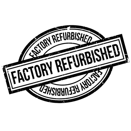 refurbished: Factory Refurbished  rubber stamp. Grunge design with dust scratches. Effects can be easily removed for a clean, crisp look. Color is easily changed. Illustration
