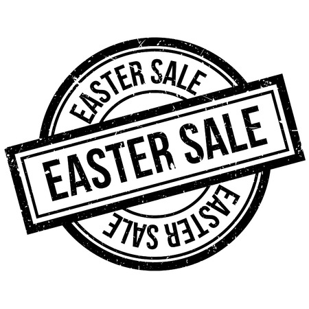 sale tags: Easter Sale rubber stamp. Grunge design with dust scratches. Effects can be easily removed for a clean, crisp look. Color is easily changed. Illustration
