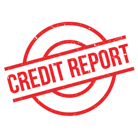 credit report: Credit Report rubber stamp. Grunge design with dust scratches. Effects can be easily removed for a clean, crisp look. Color is easily changed.