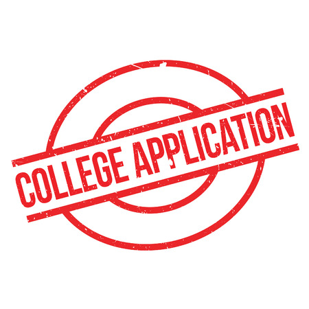 College Application rubber stamp. Grunge design with dust scratches. Effects can be easily removed for a clean, crisp look. Color is easily changed.