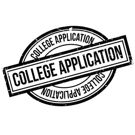 College-Anwendung Stempel. Grunge-Design Mit Staub Kratzer. Die ...