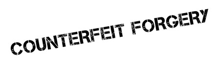 falsification: Counterfeit Forgery rubber stamp. Grunge design with dust scratches. Effects can be easily removed for a clean, crisp look. Color is easily changed.