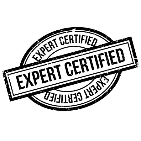 adept: Expert Certified rubber stamp. Grunge design with dust scratches. Effects can be easily removed for a clean, crisp look. Color is easily changed. Illustration