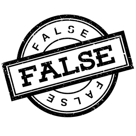 untrue: False rubber stamp. Grunge design with dust scratches. Effects can be easily removed for a clean, crisp look. Color is easily changed.