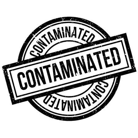 contaminated: Contaminated rubber stamp. Grunge design with dust scratches. Effects can be easily removed for a clean, crisp look. Color is easily changed.