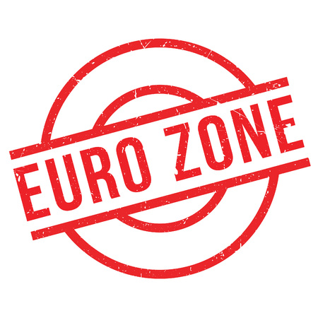 trade union: Euro Zone rubber stamp. Grunge design with dust scratches. Effects can be easily removed for a clean, crisp look. Color is easily changed.