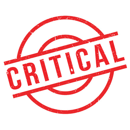 vital: Critical rubber stamp. Grunge design with dust scratches. Effects can be easily removed for a clean, crisp look. Color is easily changed.