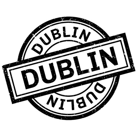 ireland cities: Dublin rubber stamp. Grunge design with dust scratches. Effects can be easily removed for a clean, crisp look. Color is easily changed. Illustration