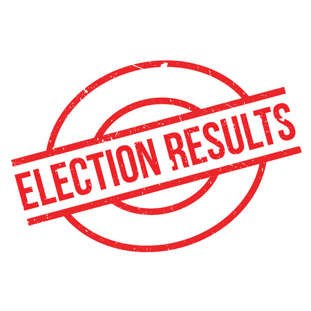 turnout: Election Results rubber stamp. Grunge design with dust scratches. Effects can be easily removed for a clean, crisp look. Color is easily changed.