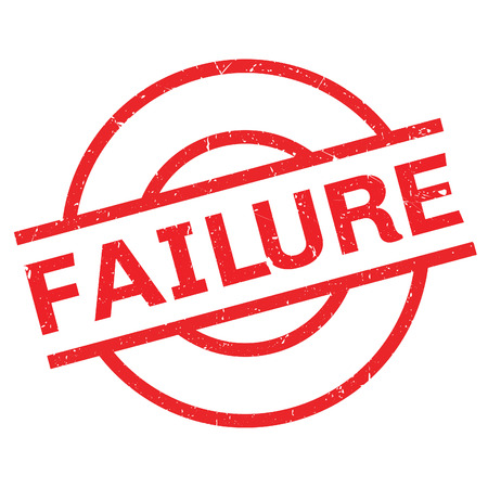 Failure rubber stamp. Grunge ontwerp met stof krassen. Effecten kunnen gemakkelijk worden verwijderd voor een schone, frisse look. Kleur is gemakkelijk veranderd. Vector Illustratie