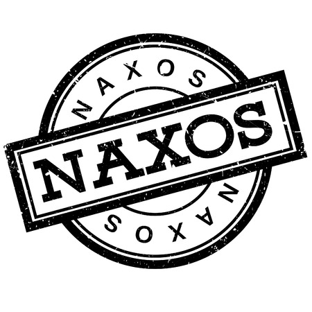 Naxos rubber stamp. Grunge design with dust scratches. Effects can be easily removed for a clean, crisp look. Color is easily changed.