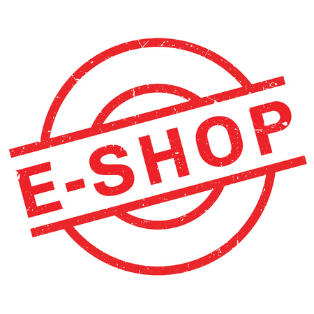 e auction: E-Shop rubber stamp. Grunge design with dust scratches. Effects can be easily removed for a clean, crisp look. Color is easily changed.