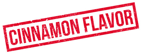 flavor: Cinnamon Flavor rubber stamp. Grunge design with dust scratches. Effects can be easily removed for a clean, crisp look. Color is easily changed.