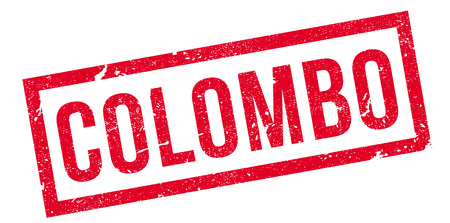 colombo: Colombo rubber stamp. Grunge design with dust scratches. Effects can be easily removed for a clean, crisp look. Color is easily changed. Illustration