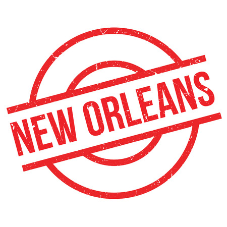 new look: New Orleans rubber stamp. Grunge design with dust scratches. Effects can be easily removed for a clean, crisp look. Color is easily changed.