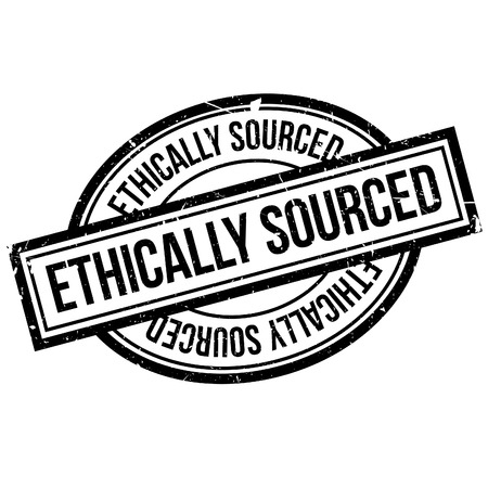 ethical: Ethically Sourced rubber stamp. Grunge design with dust scratches. Effects can be easily removed for a clean, crisp look. Color is easily changed.