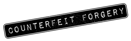 counterfeit: Counterfeit Forgery rubber stamp. Grunge design with dust scratches. Effects can be easily removed for a clean, crisp look. Color is easily changed.