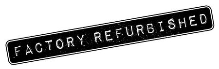 returned: Factory Refurbished  rubber stamp. Grunge design with dust scratches. Effects can be easily removed for a clean, crisp look. Color is easily changed. Illustration