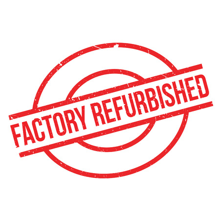 replacing: Factory Refurbished  rubber stamp. Grunge design with dust scratches. Effects can be easily removed for a clean, crisp look. Color is easily changed. Illustration