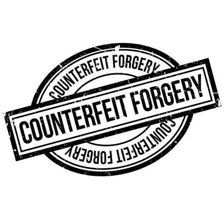 office theft: Counterfeit Forgery rubber stamp. Grunge design with dust scratches. Effects can be easily removed for a clean, crisp look. Color is easily changed.