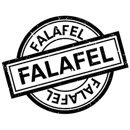 Falafel rubber stamp. Grunge design with dust scratches. Effects can be easily removed for a clean, crisp look. Color is easily changed. Banco de Imagens - 66880947